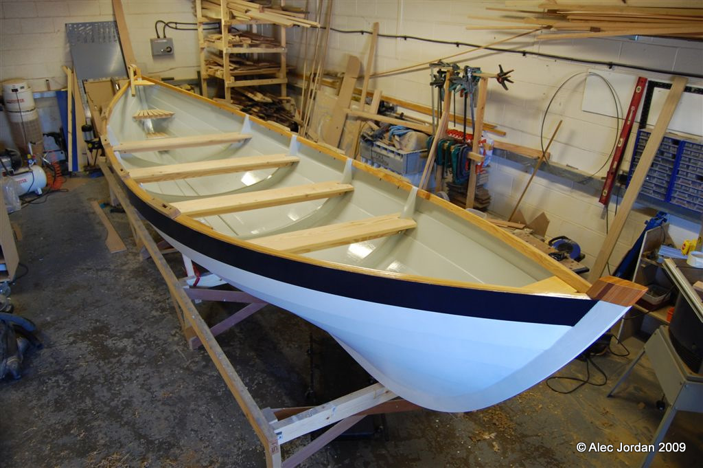 The prototype St Ayles Skiff - almost complete
