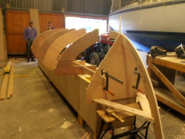 Building setup bow view