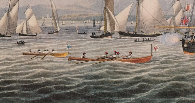 Rowing race on the Clyde, 1837